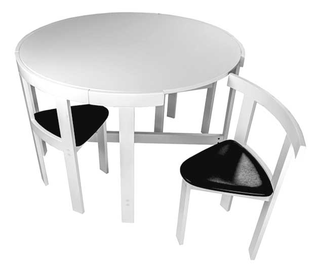 Furniture For Small Spaces | 17 Genious & Affordable Ideas (Must See!) With Regard To Dining Tables With Fold Away Chairs (View 17 of 25)