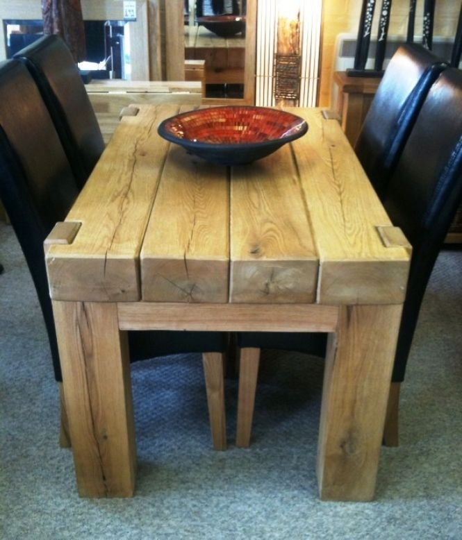 Furniture From Oak Railway Sleepers With Regard To Railway Dining Tables (Image 4 of 25)