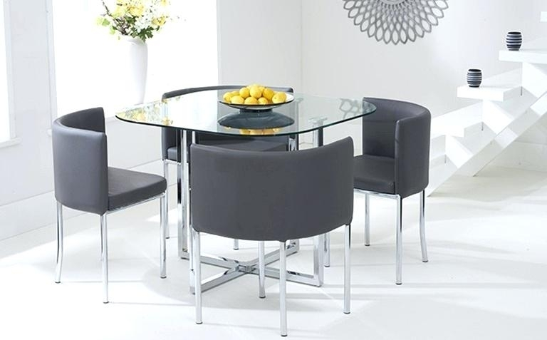 Furniture Glass Top Dining Table Set 4 Chairs Regarding Cheap Glass Dining Tables And 4 Chairs (View 12 of 25)