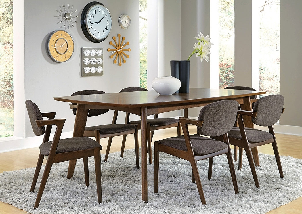 Furniture Mart Tx Walnut Dining Table W/6 Chairs Throughout Walnut Dining Table And 6 Chairs (Image 13 of 25)