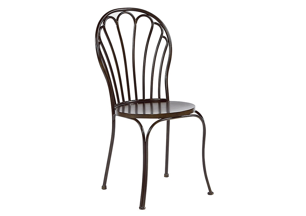 Furniture & More Galleries Peacock Chair, Blackened Bronze (Set Of 2) For Magnolia Home Taper Turned Jo's White Gathering Tables (Image 6 of 25)