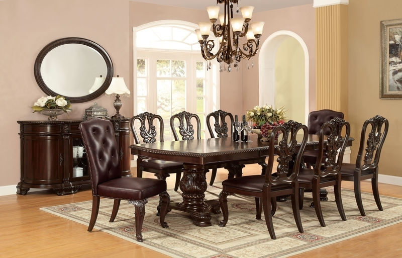 Furniture Of America   Cm3319T Bellagio Formal Dining Room Set Within Bellagio Dining Tables (Image 23 of 25)
