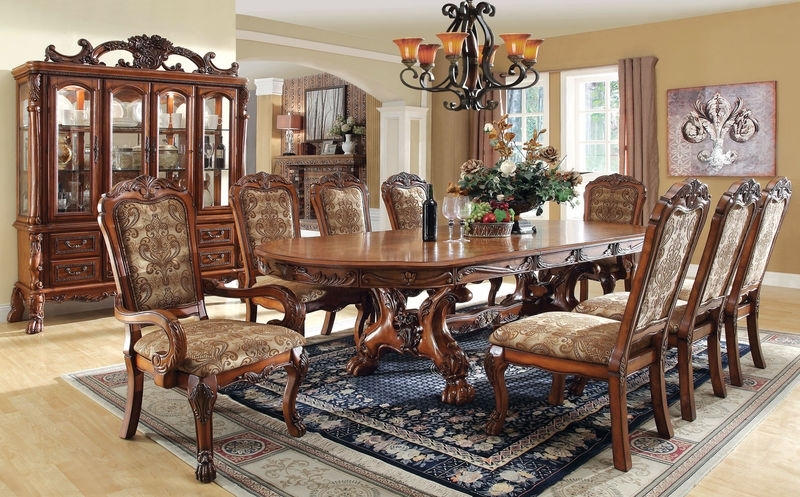 Furniture Of America | Cm3557T Medieve Formal Dining Room Set Regarding Leon Dining Tables (View 15 of 25)