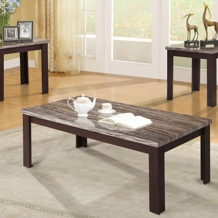 Furniture Of America May Brown Cherry Occasional Table Set – May Inside Carly 3 Piece Triangle Dining Sets (Image 17 of 25)