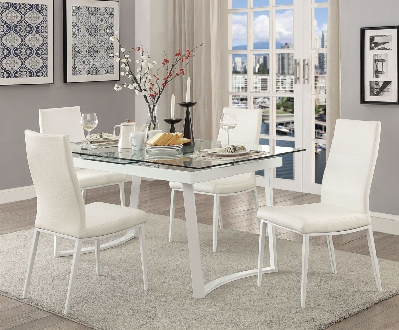Furniture Of America Miriam White Extendable Dining Table – Miriam Pertaining To White Extendable Dining Tables And Chairs (Image 14 of 25)