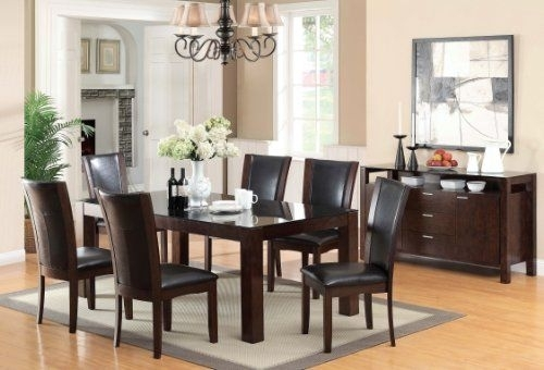 Furniture Of America Renolds 7 Piece Dining Table Set With 10Mm For Candice Ii 7 Piece Extension Rectangular Dining Sets With Uph Side Chairs (View 20 of 25)