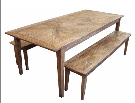 Furniture Ranges :: Parquetry Recycled Elm :: Parquetry Dining Table Inside Parquet Dining Tables (Image 9 of 25)