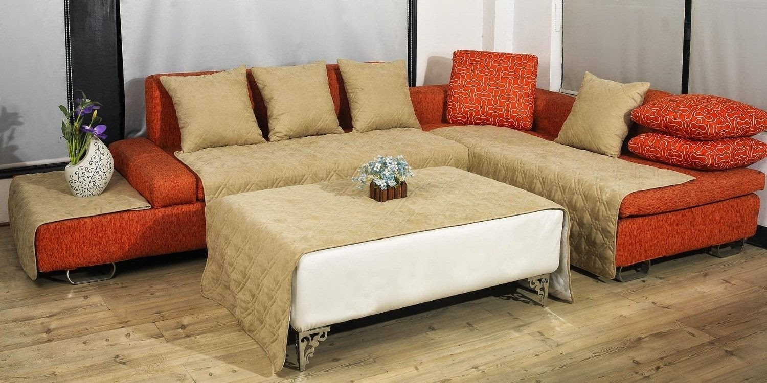 Furniture: Refresh And Decorate In A Snap With Slipcover For In Aspen 2 Piece Sleeper Sectionals With Laf Chaise (View 15 of 25)