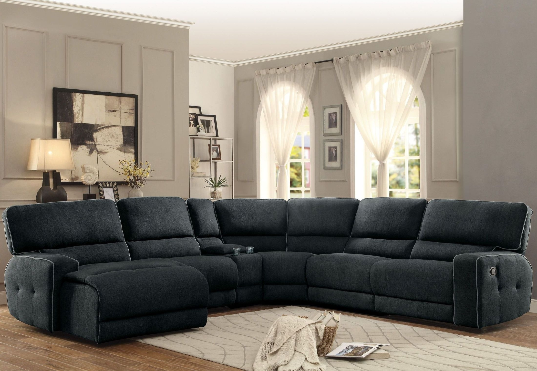 Furnitureetc | Furniture & More Keamey Gray Laf Reclining Sectional In Avery 2 Piece Sectionals With Laf Armless Chaise (Image 14 of 25)
