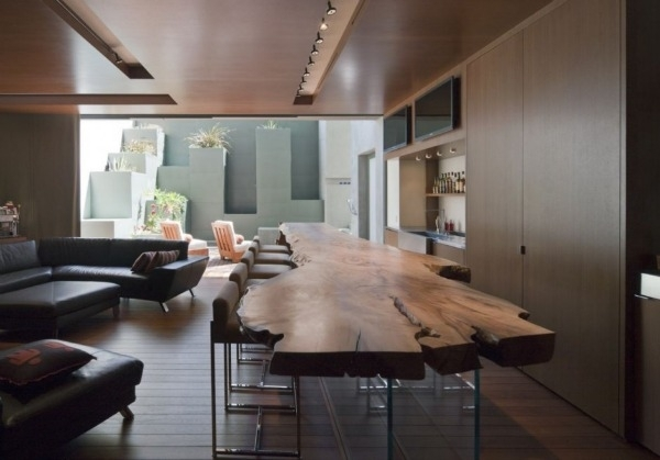 Furnitures : Dining Room Design With Live Edge Slab Dining Table And Throughout Tree Dining Tables (Image 10 of 25)
