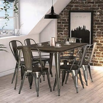 Fusion 7 Piece Dining Set | Home | Pinterest | Dining Throughout Amos 6 Piece Extension Dining Sets (Image 15 of 25)