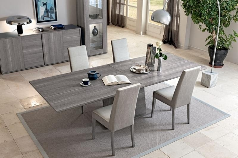 Futura Grey Dining Table | Extending Dining Table | Modern Furniture| Pertaining To Extended Dining Tables And Chairs (Image 15 of 25)