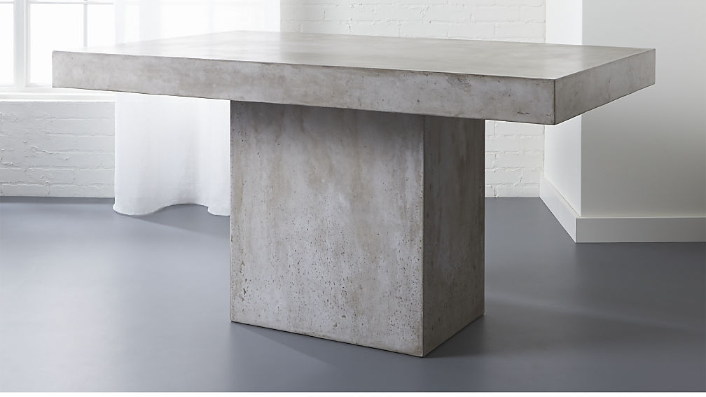 Fuze Grey Dining Table   Cb2 With Regard To Grey Dining Tables (Image 8 of 25)