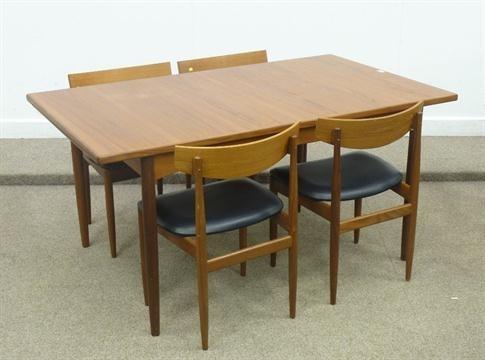 G Plan Rectangular Teak Vintage/retro Extending Dining Table With With Retro Extending Dining Tables (Image 13 of 25)