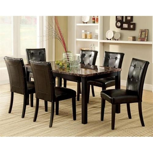 G S Furniture Black And White 6 Seater Dining Table Set, Rs 54500 In Cheap 6 Seater Dining Tables And Chairs (View 17 of 25)