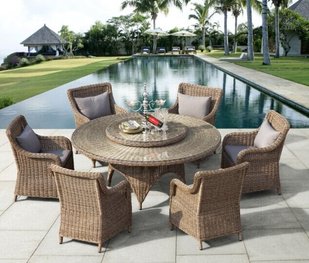 Garden Dining Furniture, Outdoor Dining Furniture, Patio Dining For Rattan Dining Tables (Image 9 of 25)