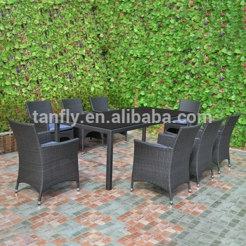 Garden Furniture Wicker Rattan 8 Seater Outdoor Dining Setting Table Intended For 8 Seat Outdoor Dining Tables (Image 17 of 25)