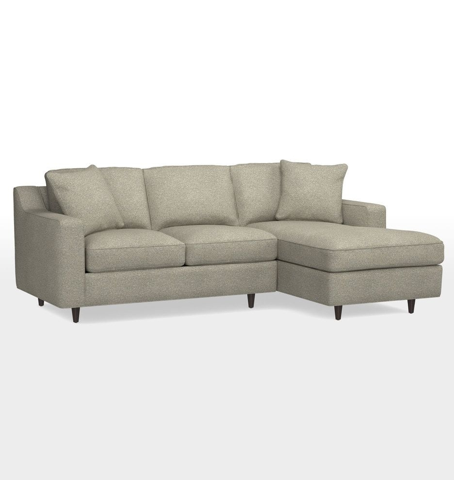 Garrison Small Sectional Sofa Couch Right Chaise Rejuvenation With Avery 2 Piece Sectionals With Laf Armless Chaise (Image 14 of 25)