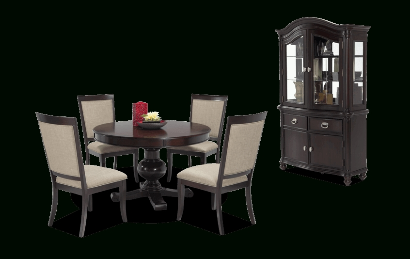 Gatsby Round 7 Piece Dining Set With Side Chairs | Bob's Discount Within Valencia 5 Piece Round Dining Sets With Uph Seat Side Chairs (Image 14 of 25)