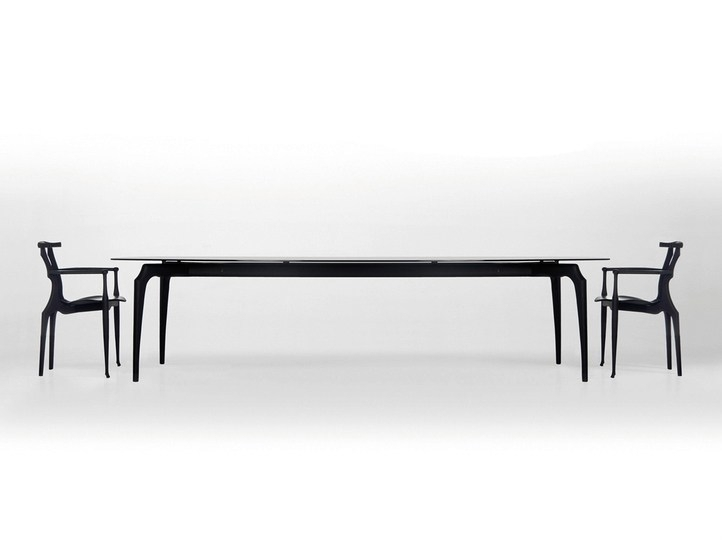 Gaulino | Wood And Glass Tablebd Barcelona Design Design Oscar In Barcelona Dining Tables (View 16 of 25)
