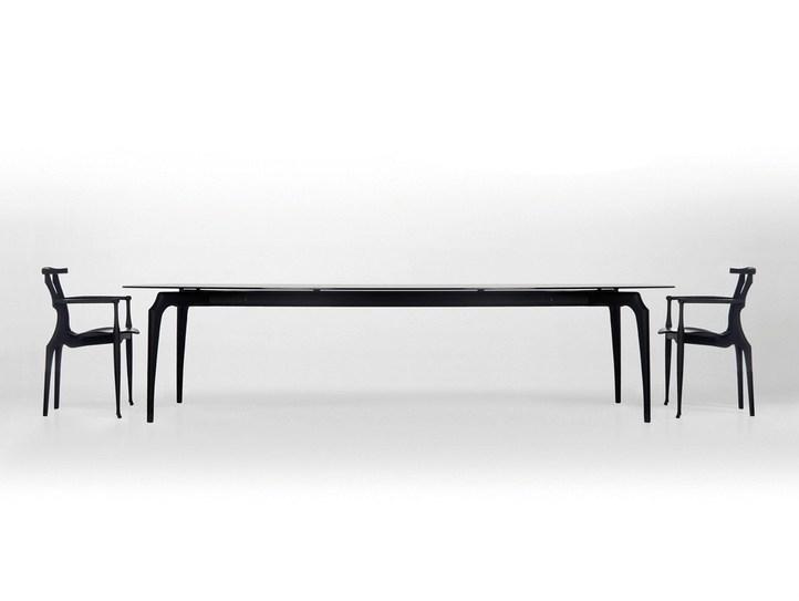 Gaulino | Wood And Glass Tablebd Barcelona Design Design Oscar In Barcelona Dining Tables (Image 18 of 25)