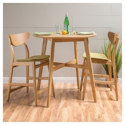 Gavin 36 Counter Height Dining Set – Natural Oak/green Tea Intended For Gavin Dining Tables (View 20 of 25)