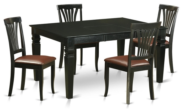 Gavin Dining Table Set, Black – Traditional – Dining Sets – With Gavin Dining Tables (View 6 of 25)