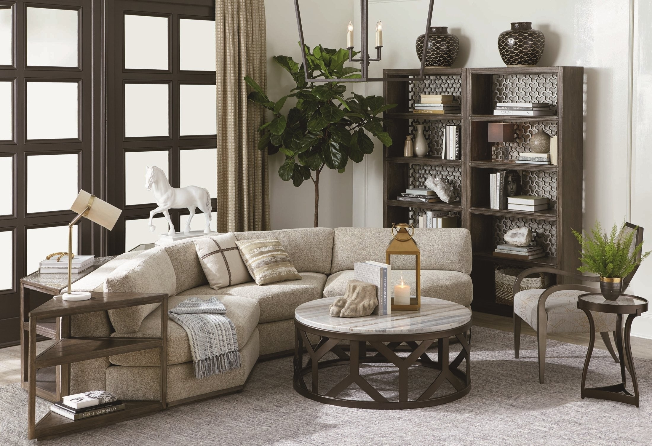 Geode Medium Oak Diamond 3 Piece Sectional From Art | Coleman Furniture Intended For Harper Down 3 Piece Sectionals (Image 8 of 25)