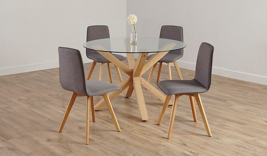 George Home Winston Circular Dining Table And 4 Chairs | Dining in Circular Dining Tables For 4