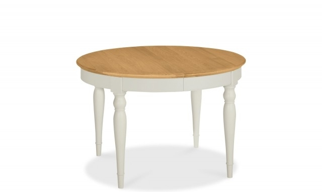 Georgie – Round Oak Extending Dining Table – Fishpools Intended For Round Extending Dining Tables (Image 11 of 25)