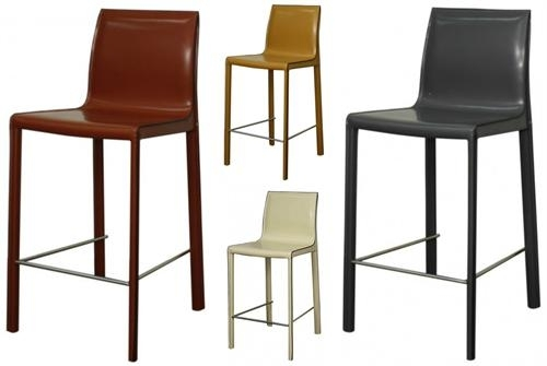 Gervin Recycled Leather Counter Stool Throughout Valencia 4 Piece Counter Sets With Bench & Counterstool (Image 11 of 25)