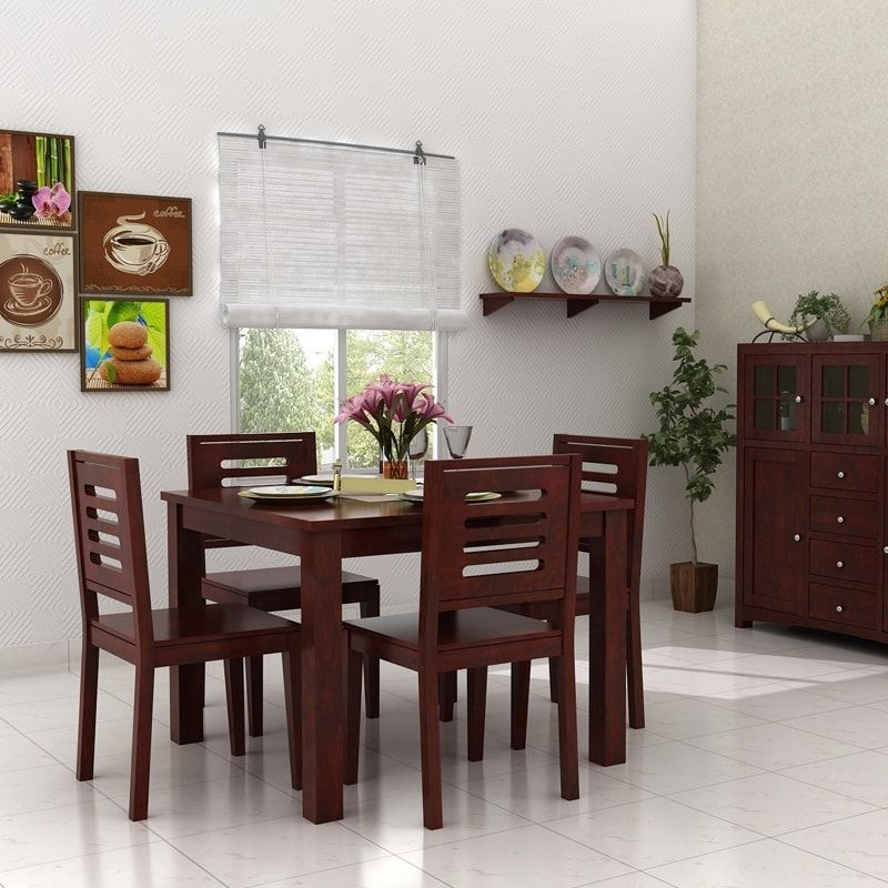 Get This Licia Porsche 4 Seater Dining Table To Adorn Your Home, And Within 4 Seat Dining Tables (Image 18 of 25)