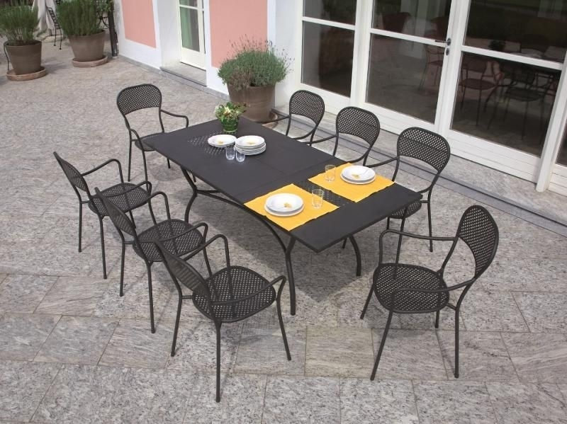 Ginevra Extending Wrought Iron Table | Patio! | Pinterest | Iron Inside Extending Outdoor Dining Tables (View 3 of 25)