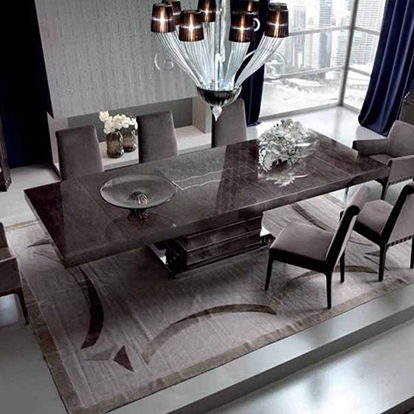 Giorgio Collection Absolute Extending Rectangular Dining Table Inside Extending Rectangular Dining Tables (Image 14 of 25)