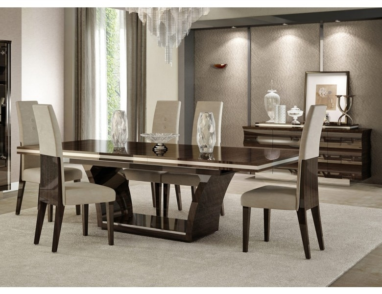 Giorgio Italian Modern Dining Table Set For Cheap Contemporary Dining Tables (Image 17 of 25)