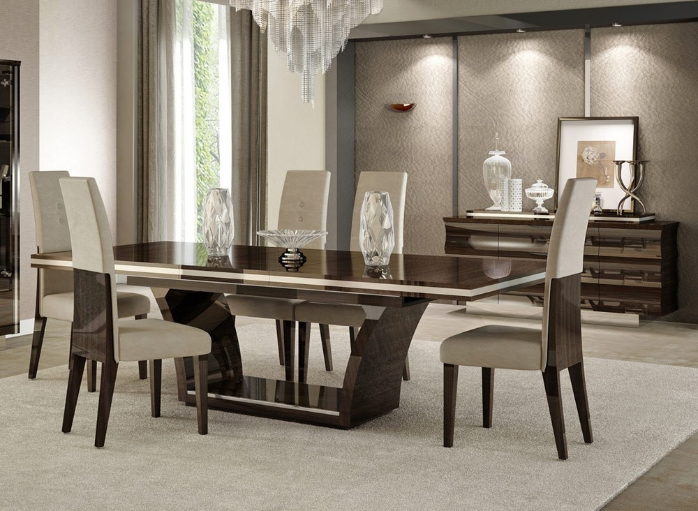Giorgio Italian Modern Dining Table Set Within Dining Sets (View 7 of 25)