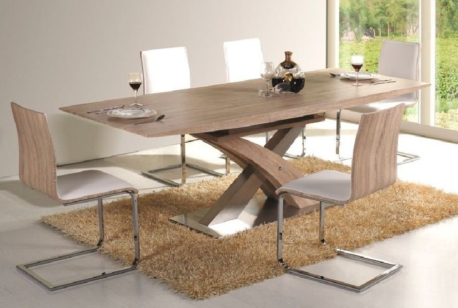 Giorgio Modern Dining Table Sonoma – Mr Gregor Ltd Regarding Modern Dining Tables (Image 12 of 25)