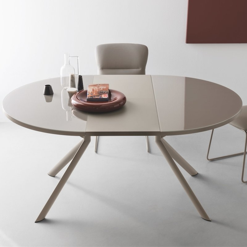 Giove Round Extendable Dining Table | Allmodern Inside Round Extending Dining Tables (View 1 of 25)