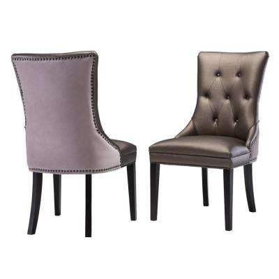 Glam – Faux Leather – Side Chair – Dining Chairs – Kitchen & Dining Inside Purple Faux Leather Dining Chairs (Image 9 of 25)
