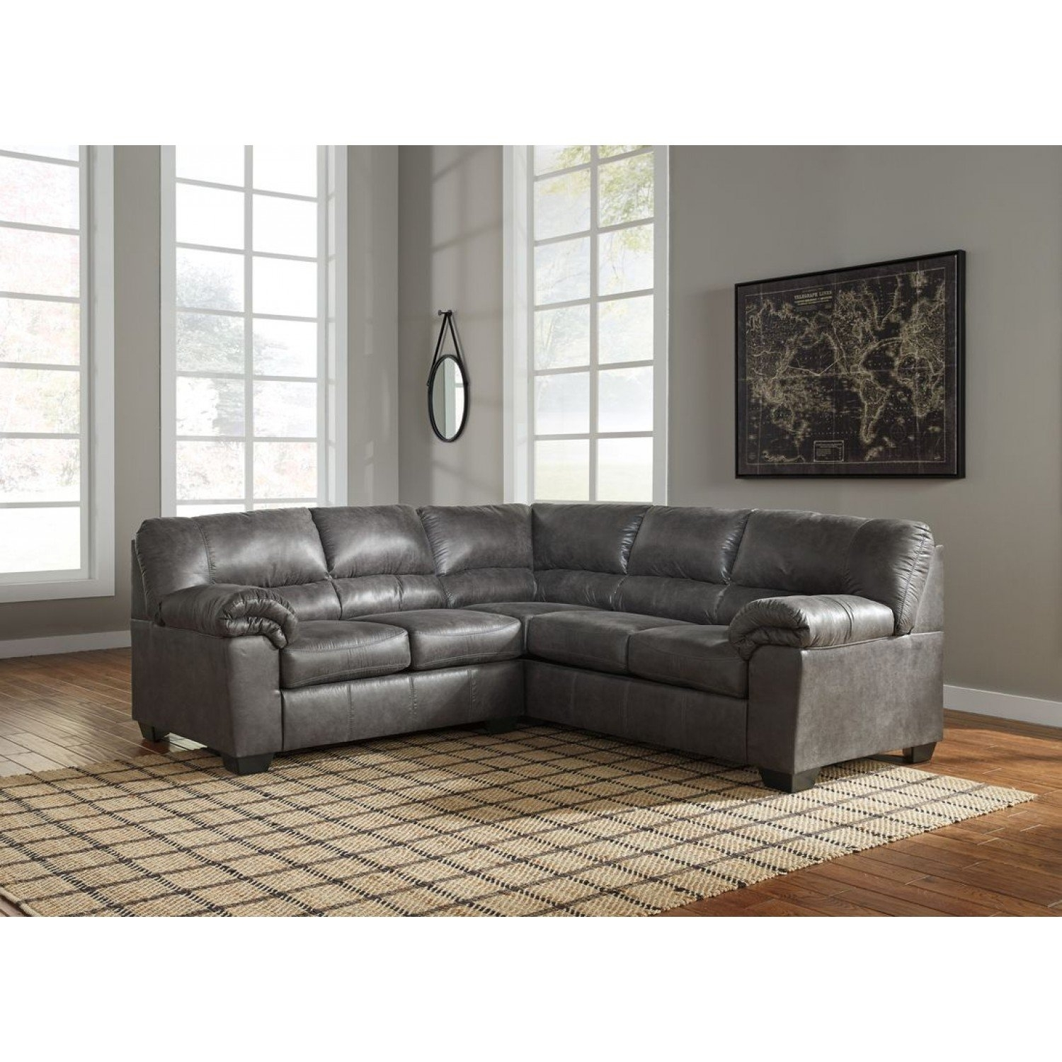 Glamor 25 Living Room With Leather Sectional Rustic intended for Glamour Ii 3 Piece Sectionals
