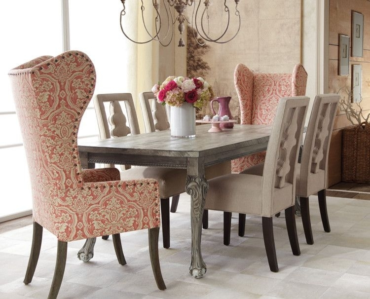 Glamorous Wingback Chairs In Dining Room Traditional With Wing Chair Inside High Back Dining Chairs (Image 8 of 25)
