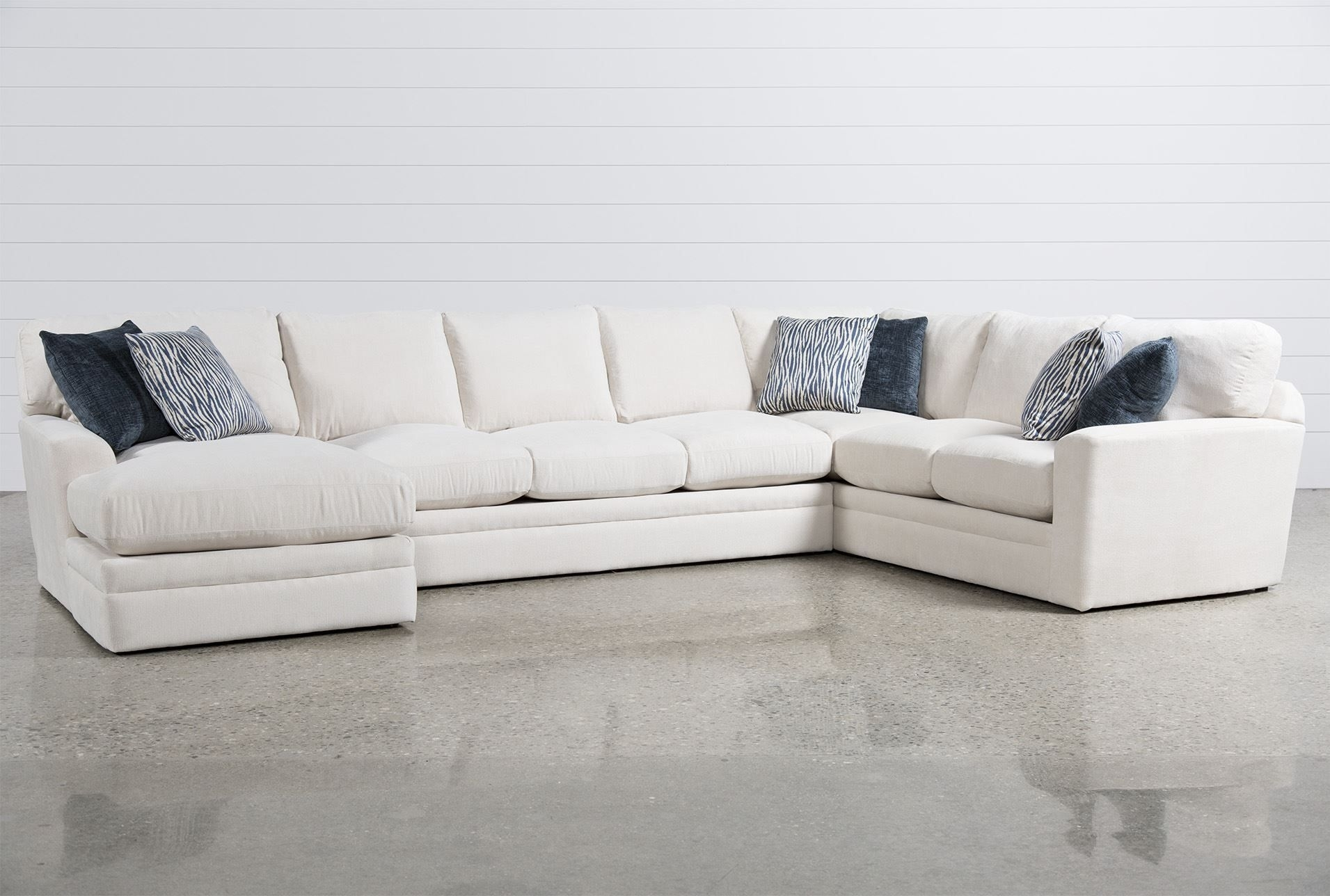 Glamour Ii 3 Piece Sectional | Furniture Options For Roland Beach with Evan 2 Piece Sectionals With Raf Chaise