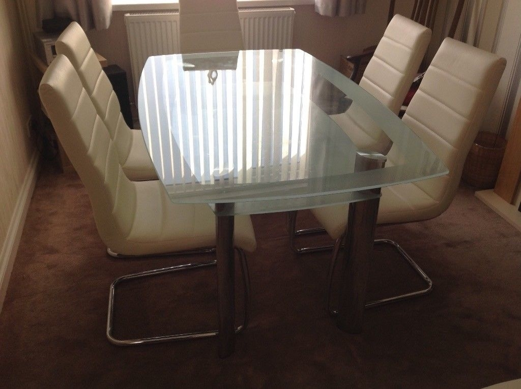 Glass 6 Seater Dining Table | In Swansea | Gumtree Throughout Glass 6 Seater Dining Tables (Image 14 of 25)
