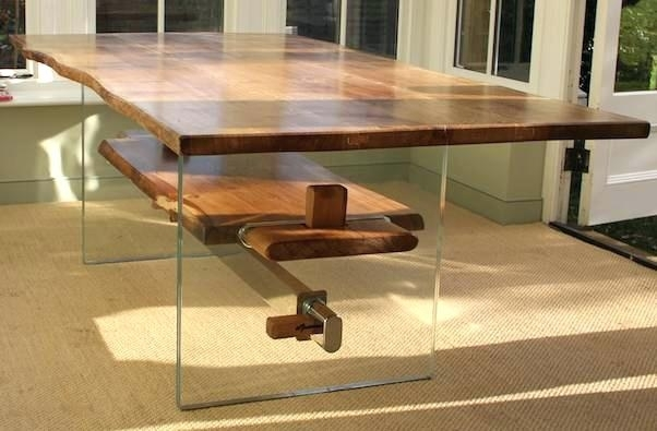 Glass And Oak Dining Table – Bienmaigrir With Glass Oak Dining Tables (View 17 of 25)