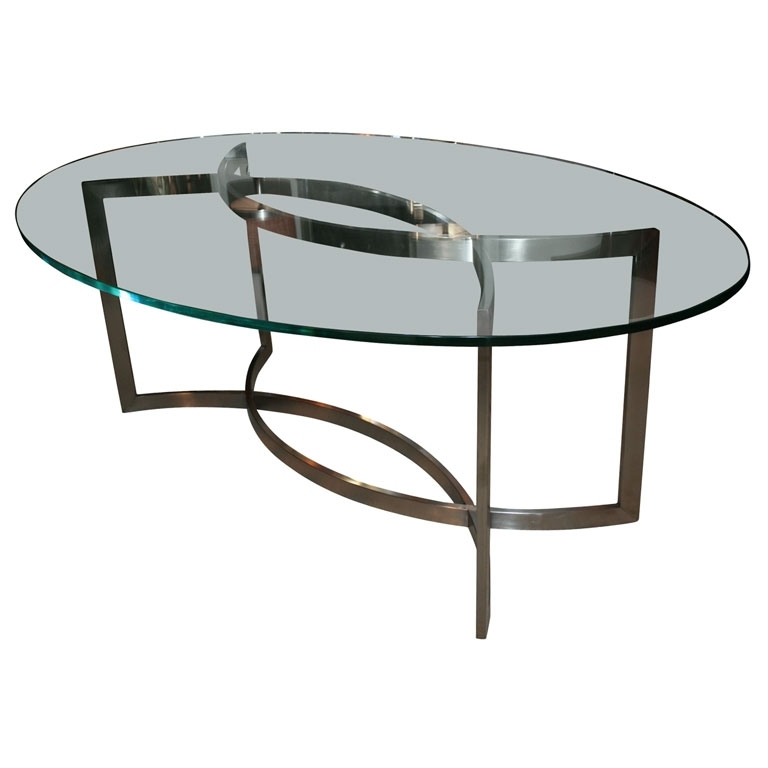 Glass And Stainless Steel Dining Tablepaul Le Geard Ozfjvnr Pertaining To Glass And Stainless Steel Dining Tables (Image 10 of 25)