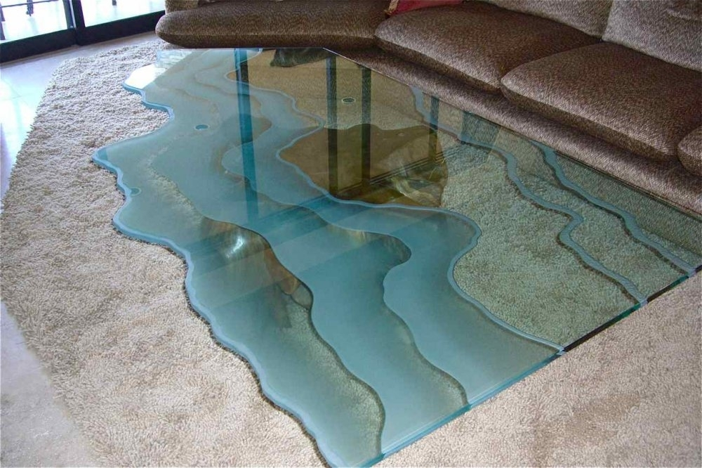 Glass Dining Room Table – Sans Soucie Art Glass Regarding Blue Glass Dining Tables (Image 15 of 25)