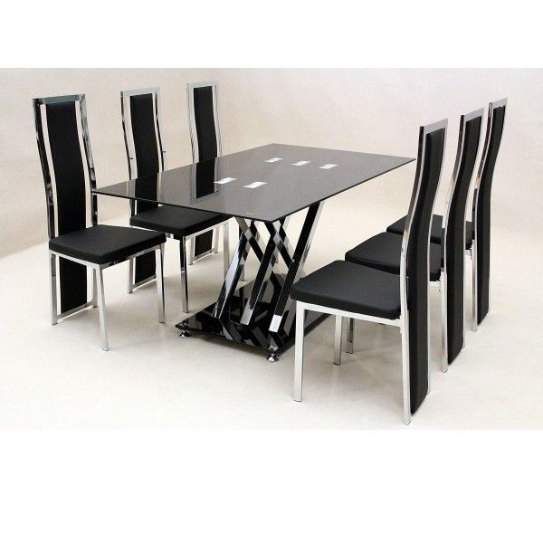 Glass Dining Sets For Those Who Want Their Places Look Modern Inside Cheap Dining Sets (View 5 of 25)