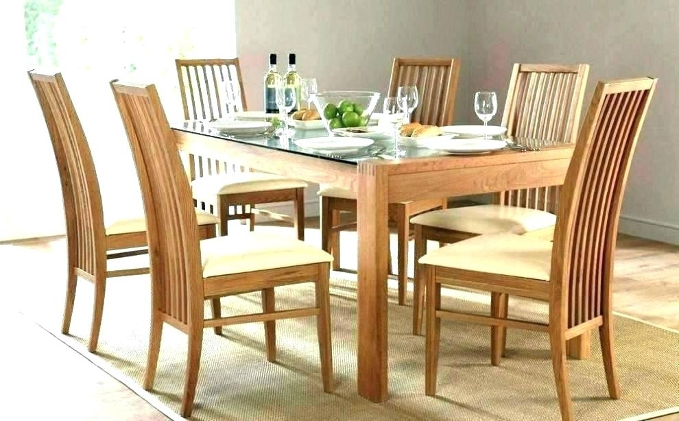 Glass Dining Table And 6 Chairs To 8 Extendable Top Throughout Sets Inside Glass Dining Tables And 6 Chairs (Image 13 of 25)