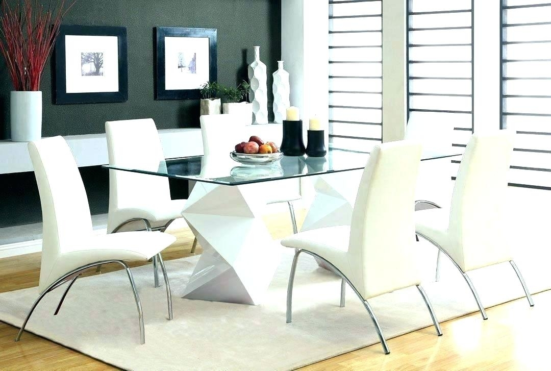 Glass Dining Table And 6 Chairs To 8 Extendable Top Throughout Sets Intended For Glass Dining Tables And 6 Chairs (Image 14 of 25)