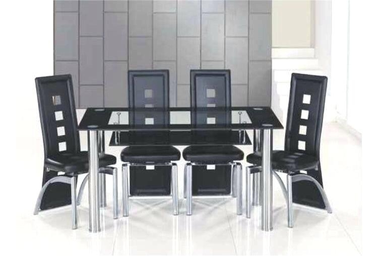 Glass Dining Table And 6 Chairs To 8 Extendable Top Throughout Sets With Regard To Glass Dining Tables With 6 Chairs (Image 14 of 25)